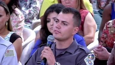 Soldado é atropelado ao tentar impedir roubo - Policial conta no Encontro como foi o momento do acidente