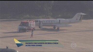 Paciente com suspeita de ebola chega ao Rio; Fátima dá as últimas informações - 'Estou apavorada', diz Juliana Paes