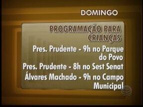 Confira as programações destinadas às crianças no Oeste Paulista - Atividades gratuitas serão realizadas em diversas cidades da região.