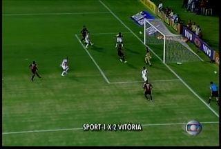 O Sport perdeu para o Vitória da Bahia - A partida foi na Ilha do Retiro e o placar final ficou em 2 a 1 para o time baiano