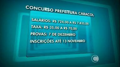 Prefeitura de Caracol do Piauí reabre concurso público para 204 vagas - Prefeitura de Caracol do Piauí reabre concurso público para 204 vagas