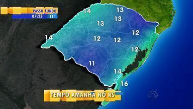 Tempo: temperaturas aumentam pela tarde na quarta-feira (22) no RS - Pode chegar a 28ºC na Região da Fronteira.