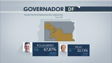 Rodrigo Rollemberg vence em oito zonas eleitorais do DF - O DF tem 31 cidades, divididas em 15 zonas eleitorais. Rodrigo Rollemberg venceu em oito delas. A maior votação foi no Plano Piloto, Paranoá e São Sebastião.
