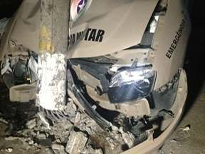 Perseguição policial em Tubarão acaba em acidente - Perseguição policial em Tubarão acaba em acidente
