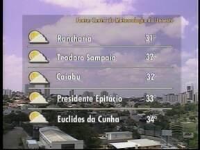 Previsão é de tempo aberto no Oeste Paulista - Confira como ficam os termômetros nesta segunda-feira (27).