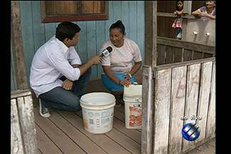 Moradores denunciam a falta de água no Paracuri - Moradores denunciam a falta de água no Paracuri