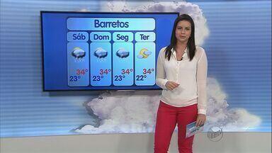 Veja como fica o tempo na região de Ribeirão Preto - Previsão é que pancadas de chuva atinjam cidades da região no fim de semana.