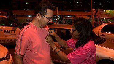 Ação na Orla da Atalaia encerra atividades do 'Outubro Rosa' contra o câncer de mama - Ação na Orla da Atalaia encerra atividades do 'Outubro Rosa' contra o câncer de mama.