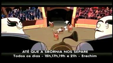 """""""Até que a Sbórnia nos separe"""" é nova atração no cinema - Comédia é inspirada na peça """"Tangos e Tragédias"""", que ganha versão em desenho animado."""