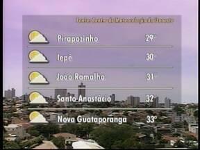 Umidade relativa do ar no Oeste Paulista está em queda - Previsão é de que temperaturas subam em toda a região.