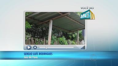 VC no MGTV: Morador reclama de condições de ponto de ônibus no Distrito de Caeté - O Demlurb informou que um técnico irá ao local para avaliar a situação.