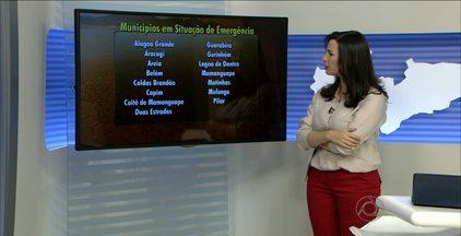 Mais 25 cidades da Paraíba são decretadas em estado de emergência por causa da estiagem - No total, 195 cidades do Estado estão em alerta por causa da falta d'água.