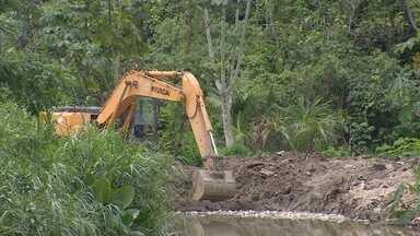 Em Manuas são realizadas obras de prevenção de alagamentos - Ações estão sendo realizadas em diversos bairros da cidade.
