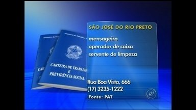 Empregos: confira vagas desta 3ª feira na região noroeste paulista - O mercado de trabalho está com vagas abertas em diversas áreas na região noroeste paulista. Confira as oportunidades divulgadas nesta terça-feira (18), para cinco cidades. Há vagas de emprego disponíveis em Catanduva (SP), Mirassol (SP), Araçatuba (SP), São José do Rio Preto (SP) e Santa Fé do Sul (SP).