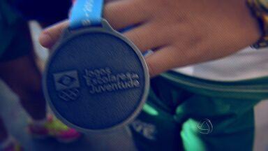 Jovens participam dos Jogos Escolares e conquistam acesso à 1ª divisão - Jovens participam dos Jogos Escolares e conquistam acesso à 1ª divisão.