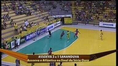 Assoeva vence e enfrenta Atlântico na final da Série Ouro - Time venceu o Sananduva por 3 a 1.