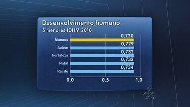 Mesmo com avanço, Manaus mantém índice de IDH baixo - Cidades metropolitanas apresentam aumento no índice em 10 anos. Renda per capita apresenta disparidades entre cidades.