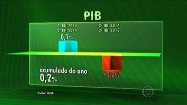 PIB do terceiro trimestre tem crescimento mínimo de 0,1% e Brasil sai da recessão técnica - Depois de apresentar números negativos nos dois primeiros trimestres do ano, o Brasil tinha entrado em um quadro que os economistas chamam de recessão técnica.