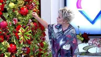 Veja a decoração de Natal da Casa de Cristal do Mais Você - Ana Maria mostra decoração em verde, branco e vermelho