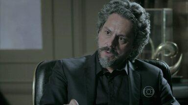 José Alfredo conta para Josué sobre a proposta de Cora - Josué fica surpreso com o que escuta