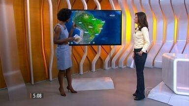 Confira a previsão do tempo para esta quinta-feira (4) em todo o país - Termômetros chegam a 34°C em Palmas e 36°C no Rio de Janeiro.