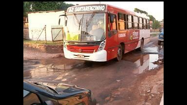 Sem conclusão, anel viário do Santarenzinho tem buracos no asfalto - Obra iniciou este ano, mas ainda não foi concluída. Seminfra diz que aguarda recursos de convênio com o governo federal.