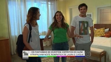 'Eu acabei quebrando o que não devia', brinca Sergio Guizé - Ator 'luta' com fantasmas que atrapalham noite romântica em Ato Astral