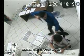 Polícia ouve testemunhas para tentar identificar os envolvidos no assalto a uma loja - Imagens do assalto foram registradas por câmeras de segurança.