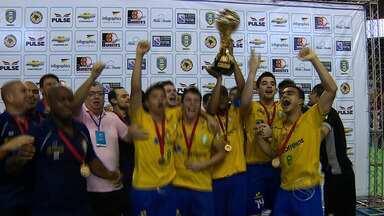 Brasil é campeão Sul-Americano Sub- 20 de Futsal - Brasil venceu a seleção da Colômbia e é campeão do Sul-americano de Futsal sub 20, na disputa de pênaltis.
