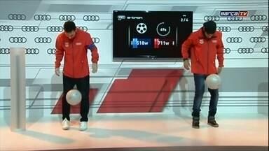 Vídeo com Neymar e Messi é o mais visto da história do Youtube - Imagens são da TV Barcelona e mostram os craques fazendo embaixadinha