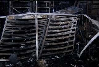 Incêndio destrói parcialmente uma revendedora de motos em Montes Claros - Não houve vítimas, mas os prejuízos materiais passa de R$ 500 mil.