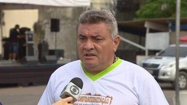 Em Manaus, feirantes realizam confraternização solidária - Entre as Feiras da banana e Manaus Moderna são quase 1.500 feirantes e este é o primeiro ano que os dois locais vão confraternizar.