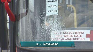 Depredações a ônibus aumentam em Campinas, SP - Segundo Transurc, foram registrados 116 casos desde janeiro.