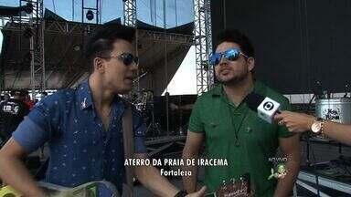 Luiz Marcelo e Gabriel é uma das atrações do Réveillon de Fortaleza - Show da Virada começa às 18h, no aterro da Praia de Iracema.
