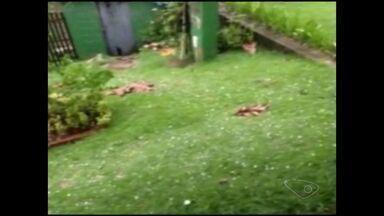 Chuva de granizo atinge Burarama, em Cachoeiro, ES - A Defesa Civil informou que os ventos chegaram a 75 km por hora.