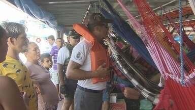 Viagens de navio para o Pará têm a vigilância da Capitania dos Portos - As viagens de navio para Belém e outros municípios paraenses seguem no mesmo aumento de demanda, e junto com a venda de bilhetes cresce também a vigilância da Capitania dos Portos