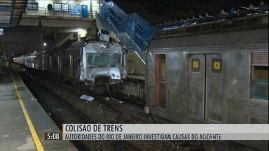 Polícia investiga causas do acidente entre dois trens no Rio de Janeiro - Mais de duzentas pessoas ficaram feridas. Cinco ainda estão internadas.