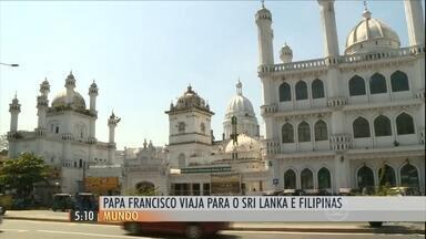 Papa Francisco chega ao Sri Lanka nesta segunda-feira (12) - O pontífice chega ao país asiático afim de reforçar o diálogo com outras religiões.