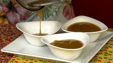 Receita com a casca da manga ajuda a reduzir o colesterol - Para fazer o flã, bata a casca de manga e a água no liquidificador. Veja o passo a passo dos outros ingredientes, antes de ir pra geladeira por quatro horas.