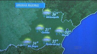 Confira a previsão do tempo para a terça-feira - Na capital paranaense, mínima será de 19 graus e a máxima chega aos 31 graus.
