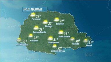 Fim de semana terá sol e calor em todo o Paraná - Confira a previsão do tempo para o estado.