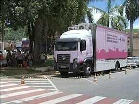 Caminhão equipado em Timóteo deve realizar mais de mil mamografias neste mês - Exame poderá ser feito até 30 de janeiro.