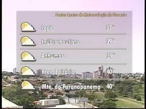 Calor deve permanecer intenso nesta terça-feira no Oeste Paulista - Confira as temperaturas para algumas cidades.