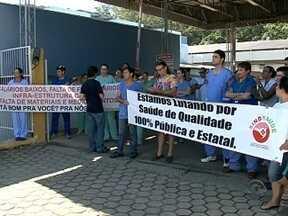 Servidores do Hospital Regional de Joinville fazem paralisação - Servidores do Hospital Regional de Joinville fazem paralisação