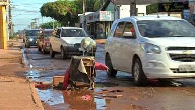 Buracos em ruas são campeões de reclamações - Os buracos nas ruas de Várzea Grande são campeões de reclamações por meio do aplicativo Bem Na Hora.