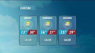 Confira a previsão do tempo para o fim de semana - O calor volta junto com as típicas chuvas de verão.