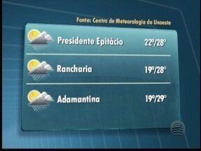 Termômetros podem marcar 29 ºC no Oeste Paulista - Confira a previsão do tempo para a região.