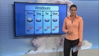 Calor deve persistir neste domingo (1º) na região de Ribeirão Preto - Sol predomina, mas pode chover no fim da tarde por influência de frente fria que está sobre o sudeste.