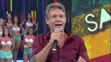 Nelson Freitas faz galera do Domingão cair na gargalhada - Confira a apresentação e divirta-se