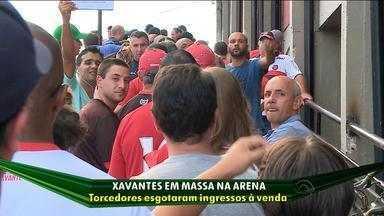 Grêmio faz promoção e torcida xavante deve lotar a Arena - Jogo ocorre às 22h desta quarta (11).